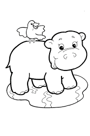 Hippopotamus Coloring Pages Cliparts And Pictures Cute Baby Hippos