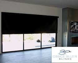 roller shade on door