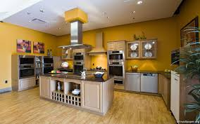 Yellow Kitchen Theme Design Fabulous Kitchen Design Ideas In Orange And White Theme