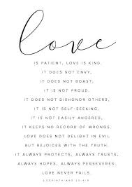 Love Is Patient Quote Interesting Love Is Patient Love Is Kind 48 Corinthians 483 Bible Verse Wall Art