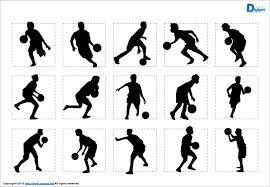バスケットボールのシルエットパワーポイント パワーポイント