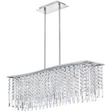 rectangular crystal chandelier organza shade chandeliers image