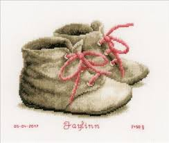 Vervaco Cross Stitch Charts Baby Shoes