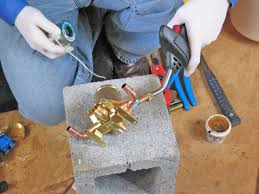 position ings and solder in place