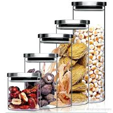 airtight glass containers spin lock airtight canisters round transpa high glass container food storage jars for