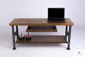 Industrial <b>TV cabinet</b> stand of <b>solid</b> wood to living room DENAR ...