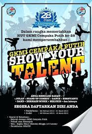 Talent Show Program Template Templates Flyer Word Free