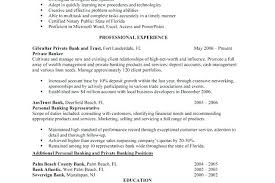 Personal Banker Sample Resume X Personal Banker Resume Examples