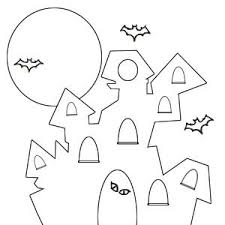 Haunted House Coloring Page Simple Chronicles Network