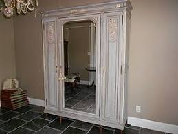 mirrored french closet doors. Contemporary Mirrored Painted Closet Doors  3Door Mirrored French Armoire Item  1091494 In