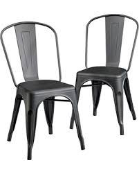 matte black metal chairs surprising fall savings on cafe dining chair set of 2 sauder interior