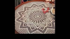 Crochet Tablecloth Pattern Extraordinary Crochet Crochet Tablecloth Tutorial YouTube