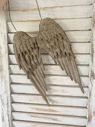 Shabby Chic Deko Flügel Xl Metall Engelsflügel Landhaus Gilde
