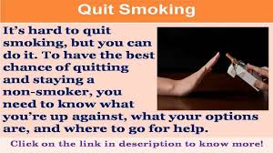 see now quit smoking slogans