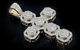 10k gold 1 30ct diamonds micro cross pendant king johnny johnny s custom jewelry