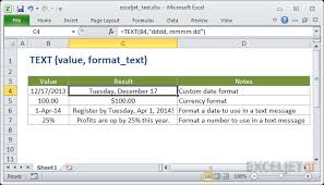 How To Use The Excel Text Function Exceljet