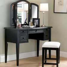 Modern vanity table with mirror and bench 11