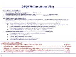 30 60 90 Day Business Plan For Sales Management