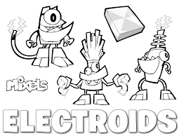 Small Picture Mixels Coloring Page Electroids Erics Activity Pages