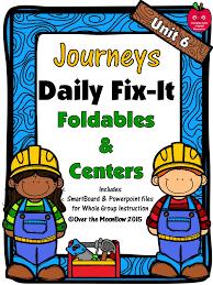 Journeys Unit 6 Daily Fix-It Foldables & Centers -1st Grade