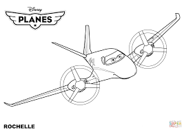 Small Picture Disney Planes Rochelle coloring page Free Printable Coloring Pages