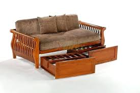 wooden daybed with trundle wood white metal storage unique uk