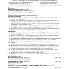 Comfortable Early Childhood Education Resume Samples Ideas