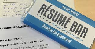 The chocolate bar resum is still a surefire way of getting noticed in a  job search