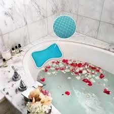 neck support relaxation bath pillow non slip bathtub