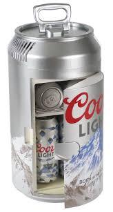 Coors Light Beverage Center Koolatron Cl06 Coors Light Mini Can Fridge White