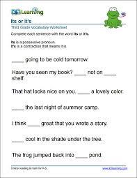 English Grammar Worksheets 3Rd Grade Worksheets for all   Download ...