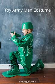 this toy army man costume is one of the easiest diy costumes we have made