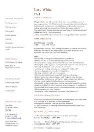 Chef Cv Template Chef Cv Sample Supervising The Cooks And Oversees All Of