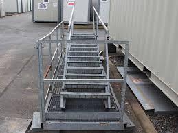 Doppelstufe antritt 54 cm tiefe. Sonderangebote Treppe Inkl Podest Fur Container 2x Handlauf Fur 2 6m Hohe Container Menzl Gmbh