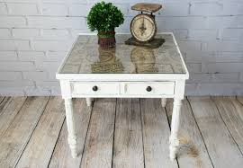 burlap furniture. add patterned burlap or fabric under a glass tabletop see furniture