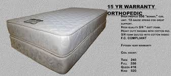 full size mattress set. Full Size Orthopedic Mattress Set