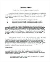 Weaknesses For Interview Examples Job Self Assessment Us Sample Within Evaluation Examples Of
