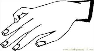 Small Picture Hand 24 Coloring Page Free Body Coloring Pages