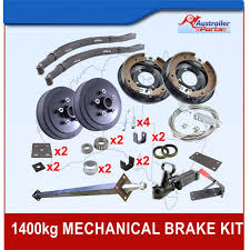 diy 1000kg mechanical drum brake single axle trailer kit with slipper springs