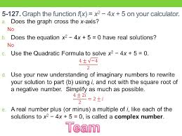 graph the function f x x 2 4x 5 on your calculator
