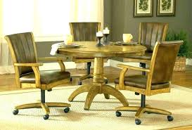 dining set with caster chairs rolling chairs dining set rolling dining room chairs exotic rolling rolling