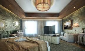 in this bedroom interior you will get an idea of wooden ceiling the wood suspension from the roof with the ceiling lights looks amazing with a dramatic