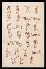 Sign Language Chart Art Print Sign Language Chart 1800s Print 8 X 10