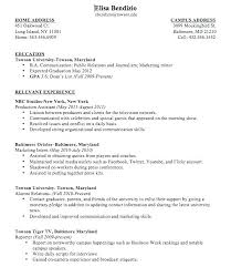Resume Format 2018 For People With No Work Experience Sample College