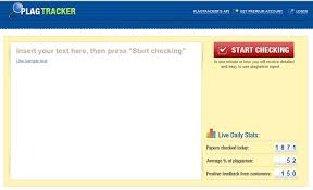 top online plagiarism checkers for teachers screenshot of plagtracker interface