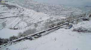 EN2 em Lamego cortada por causa da neve