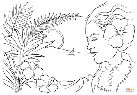 Hawaii Coloring Pages at Children Books Online