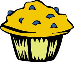 Prediseñadas Blueberry Muffin Vector Vectores De Dominio Público