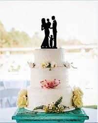 Amazoncom Wedding Cake Toppers Family Bride And Groom With 2 Boys