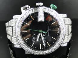 fully iced out mens diamond gucci ya101331 watch 17 ct fully iced out mens diamond gucci ya101331 watch 17 ct